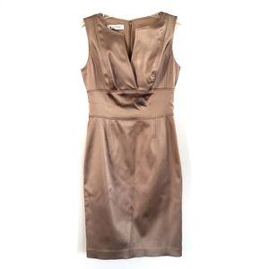 Kay Unger Bronze Gold Formal Cocktail Dress